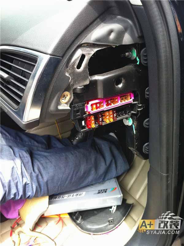 奥迪a6l -c7安装电视盒及更换车内阅读灯